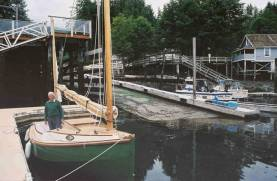 Here's Dad beside the launch ramp at Telegraph Cove.